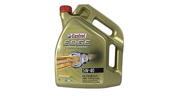 Castrol 154F59 Edge Turbo Diesel 5W40 Lubricante: Amazon.es: Coche y moto
