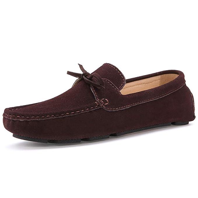 FHTD Calzado formal para hombre Gamuza casual Mocasines y zapatillas sin cordones Calzado de conducción: Amazon.es: Ropa y accesorios