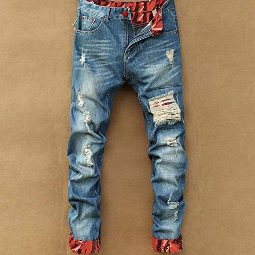 Blue Qiyun Sexy Pantalones Agujero Moda Cortos Mujer Gran Jeans z Femeninos fwvxFqf7p
