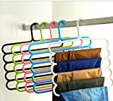 Multipurpose Hanger For Shirts , Ties , Pants Space savingHanger, Cupboard organiser, Strong and High Quality, White Or Green Color 1 pc - MosQuick