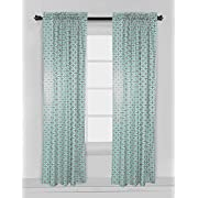 Bacati - Noah Tribal Mint/Navy Single Curtain Panel (SOLD INDIVIDUALLY) (Dots/Cross Mint/Navy)
