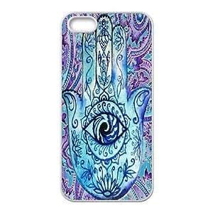 Evil Eye Hamsa Customized Cover Case for Iphone 5,5S,custom phone case ygtg610367 by icecream design