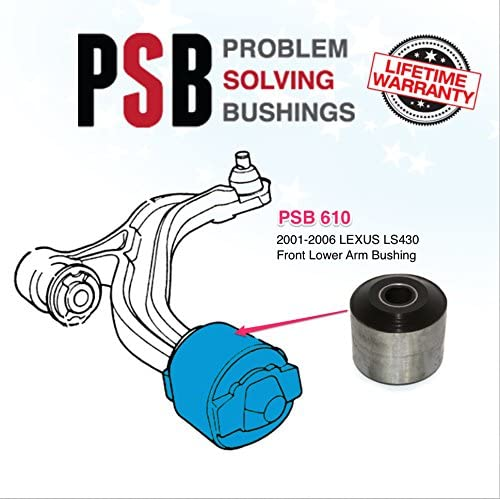 FRONT LOWER CONTROL ARM BUSHING WITH BRACKET FOR LEXUS LS430 2001-2006 PAIR