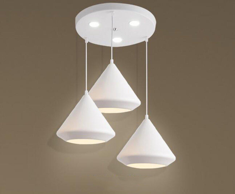 XUEXIN 3-light Nordic modern minimalist chandeliers for bar restaurant cafe, White light by XUEXIN
