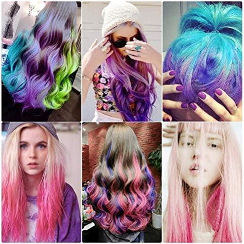 Richoose color tiza desechable instantáneo de larga duración tinte para el cabello cabello duradero Brillo de color crema para los fanáticos del ...