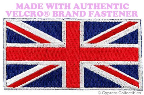 UK FLAG PATCH UNION JACK Great Britain ENGLAND EMBLEM w/ VELCRO Brand - Uk Wills Jobs Jack