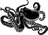Chic Walls Removable Octopus Tentacles Wall Art Decor Decal Vinyl Sticker Mural Kids Nursery Room 80'' X 68'' Black