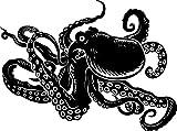 Chic Walls Removable Octopus Tentacles Wall Art Decor Decal Vinyl Sticker Mural Kids Nursery Room 80'' X 68'' Black