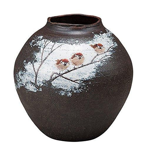 九谷焼 10号花瓶 福雀 還暦祝い/プレゼント/古希/喜寿/米寿 B01BQ8A4U0