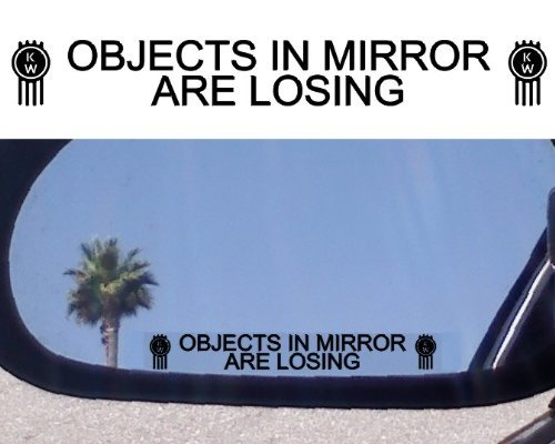 (2) Mirror Decals OBJECTS IN MIRROR