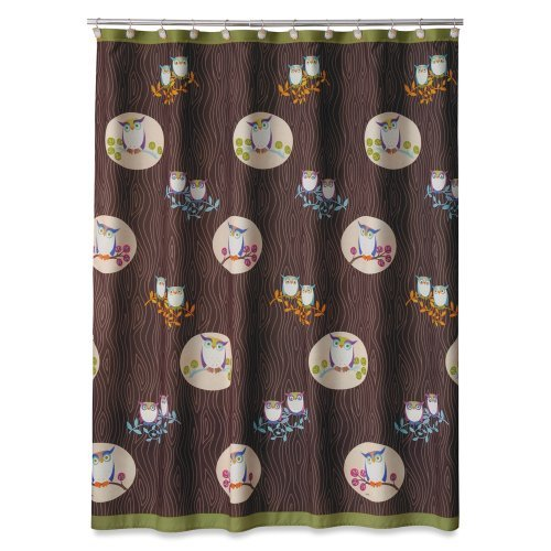 Allure Home Creations Awesome Owls Microfiber Printed Shower Curtain by Allure Home (Allure Awesome Owls)