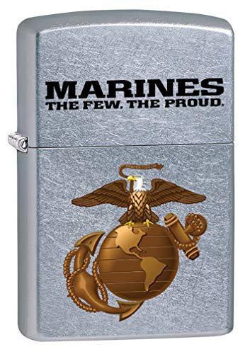 Zippo Lighter: USMC Marine Corps Logo - Street Chrome 80151