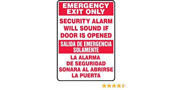 Accuform SBMEXT566VP Plastic Spanish Bilingual Sign, Legend