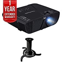 ViewSonic PJD6551W 3300 Lumens WXGA Networking Projector w/ Extended Warranty Bundle Includes, 1 Year Extended Warranty & Ceiling Bracket for Projector (Black)
