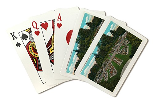Portland, Oregon - View of the Rose Test Gardens (Playing Card Deck - 52 Card Poker Size with Jokers)