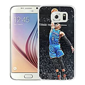 New Custom Design Cover Case For Samsung Galaxy S6 Oklahoma City Thunder Russell Westbrook 5 White Phone Case