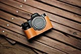 Mr Stone Handmade Leather Camera Half Case Bodysuit Cover Vivid Brown for Sony Alpha A7II A7RII A7SII Mark 2 ILCE-7M2 ILCE-7RM2
