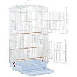 "Yaheetech 36"" Portable Hanging Medium Flight Bird Cage for Small Parrots Quaker Cockatiels Sun Parakeets Green Cheek Conures Finches Canary Budgies Lovebirds Travel Bird Cage"