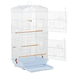 Made from durable steel iron wire frame and plastic bottom trayCoated with solid spraying powder paint surface, rust and aging resistantFeatures 2 large front doors each with 2 small doors for easy access into the inner cageContains 4 side do...