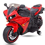 Baybee R1 Racer Battery Operated Bike for Kids Motor Bike for Kids-Electric Bike for Kids/Bike for Kids to Ride Girls and Boys ( Red )