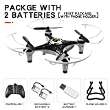 AKDSteel JX815-2 Mini 2.4GHz 4 Channel Drone 360° Rolling Quadcopter Black 2 Battery