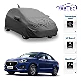 Fabtec Premium Quality Full Sized Triple Stiched Car Body Cover With Mirror & Antenna Pocket, Buckle Lock & Storage Bag For For New Maruti Swift Dzire