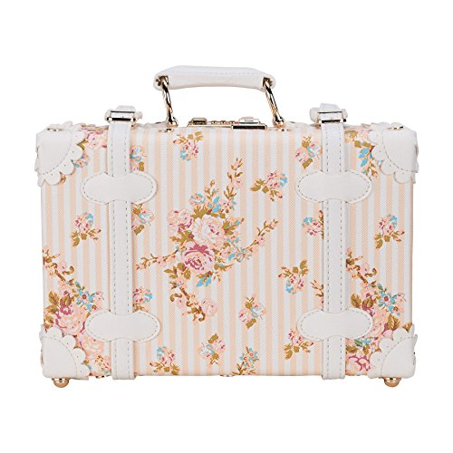 CO Z 12 Vintage Luggage Suitcase Set Carry On Rose Floral With TSA Locks And Spinner Wheels Florial