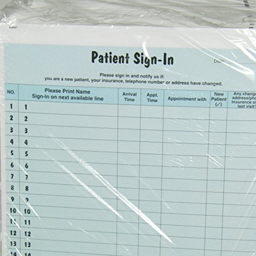 patient sign in sheets hipaa compliant 125 package two. Black Bedroom Furniture Sets. Home Design Ideas