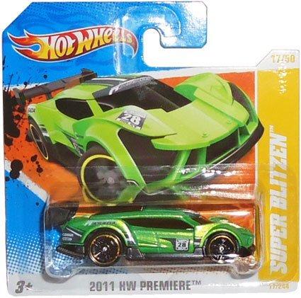 2011 Hot Wheels Super Blitzen-(grün)   17/50 HW PREMIER Original Concept KFZ (kurz Karte) von Mattel