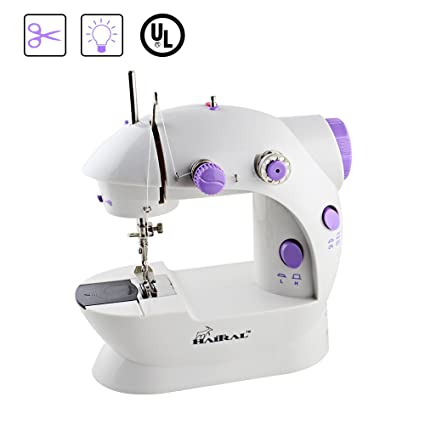Amazon HAITRAL Portable Sewing Machine Adjustable 40Speed Interesting Dressmaker Mini Sewing Machine Instructions