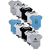 Duck Duck Goose 'Baby Boy\'s Short Sleeve Bodysuits (10 Pack) Hello Ladies, 6-9 Months'