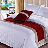 Wine bed five star hotel bedding article bed flag bed runner bed cover bed foot mat decorative strip-L 50x240cm(20x94inch)