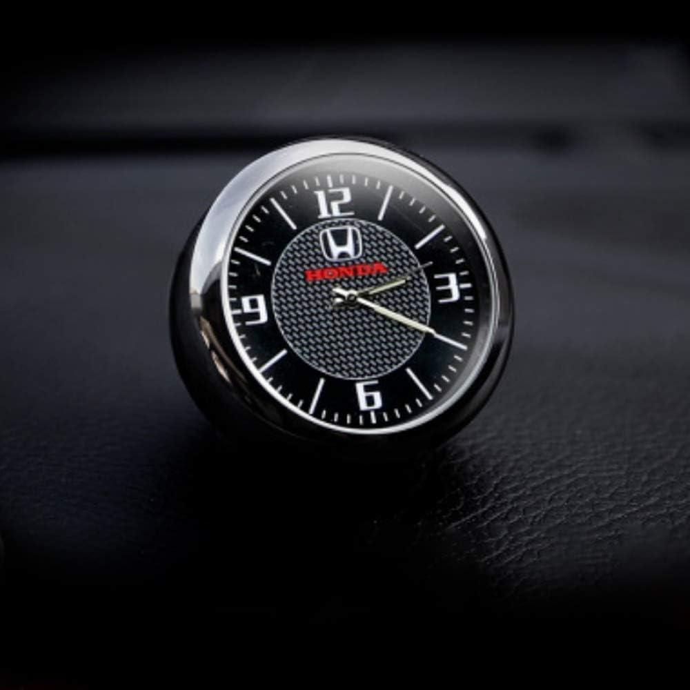 Generies Voiture Tableau De Bord Garniture Horloge Accessoires Int/érieur Haute Pr/écision Quartz Lumineux Cadran avec Pince De Ventilation pour Auto
