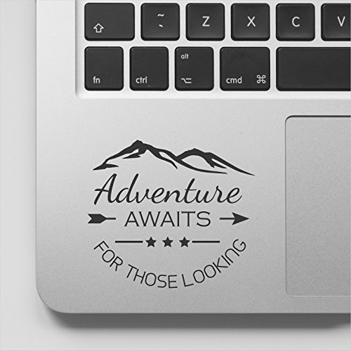 - Wicked Decals Adventure Awaits Those Looking Quote Motivational MacBook Decal Inspirational Laptop Sticker Quote Compatible with MacBook Retina, MacBook Air, MacBook Pro
