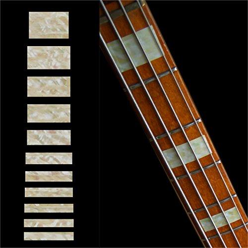 Fretboard Markers Inlay Sticker Decals for Bass - Jazz Bass Block - AWP (Bass Blocks)