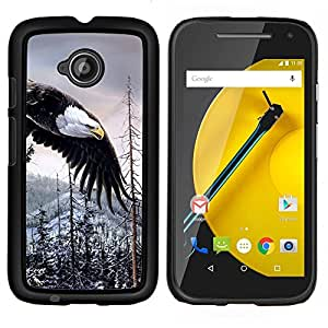 YiPhone /// Prima de resorte delgada de la cubierta del caso de Shell Armor - Silvestre águila calva americana de Alaska - Motorola Moto E2 E2nd Gen