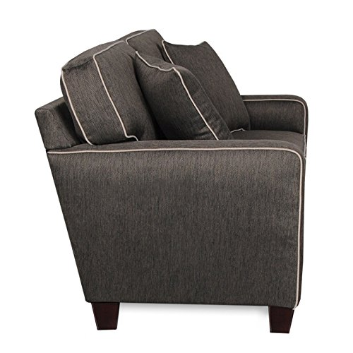 Albany Rta Chloe Charcoal Sofa With Contrasting Welt And 2