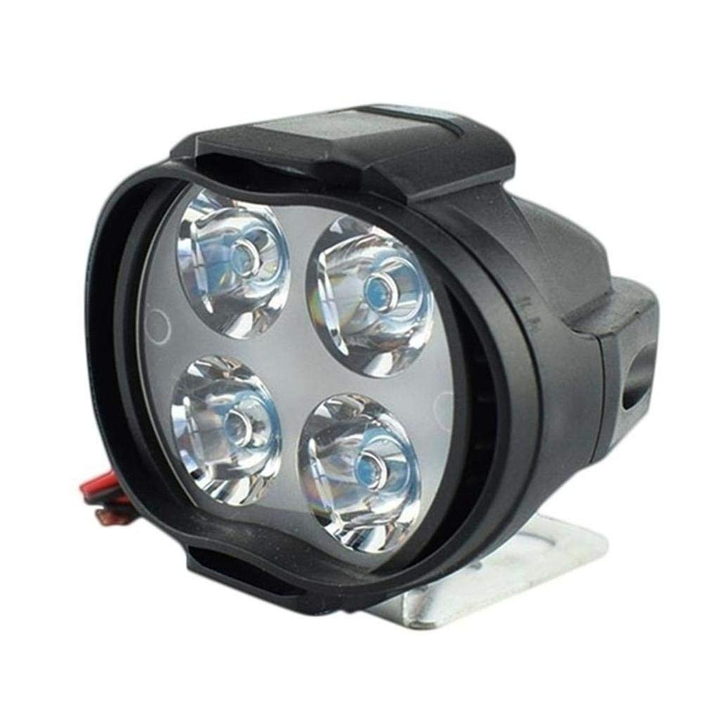 ZLR Moto phares –  Haute Puissance 12 W Super Bright é clairage LED pour Moto, Brouillard Spot Lampe Phare Blanc, DE Moto Avant Spots Prom-Note