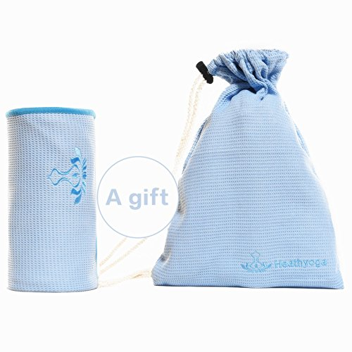 The Combo Yoga Mat Luxurious Non Slip Mat Towel: Premium Non Slip Yoga Towel (Free Towel Bag) By Heathyoga