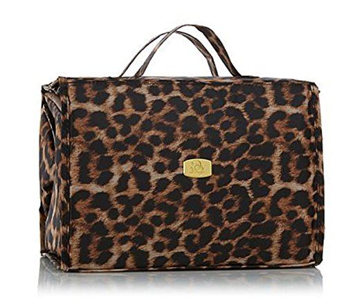 Joy Mangano Deluxe XL Better Beauty Case ~Leopard Print by Joy Mangano