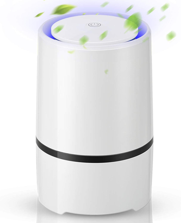 EXTSUD Purificador de Aire con Filtro HEPA para Hogar y Oficina, Purificador Silencioso Perfecta contra el Polvo y los Alérgenos de Mascotas