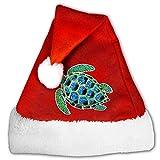 FunnyLaury Sea Turtle Santa Hat Velvet Christmas Hat