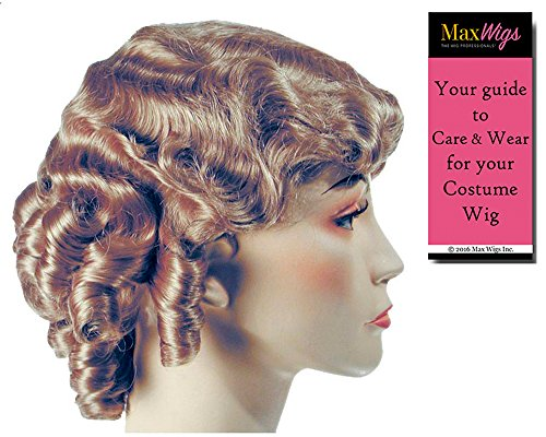 (1930s FingerWave Fluff Color Strawberry Blonde - Lacey Wigs Longer Flapper 42nd Street Theater Chicago HarlowBundle With MaxWigs Costume Wig Care)