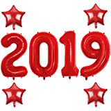 40 Inch red 2019 Number Foil Balloons