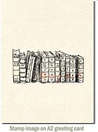 Libros antiguos aferro sello de goma frontera: Amazon.es: Juguetes y juegos