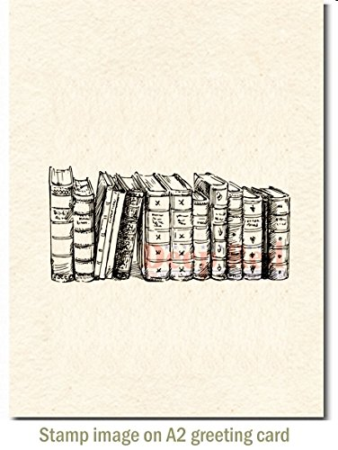 Old Books Border Rubber Cling - Stamp Border Rubber