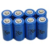 8x 16340 Battery New for 3.7v Li-ion Top button Rechargeable CR123A RCR123A LR123A LC16340 IMR16340 BRC16340 LED Torch FlashLight Laser Pointer Pen