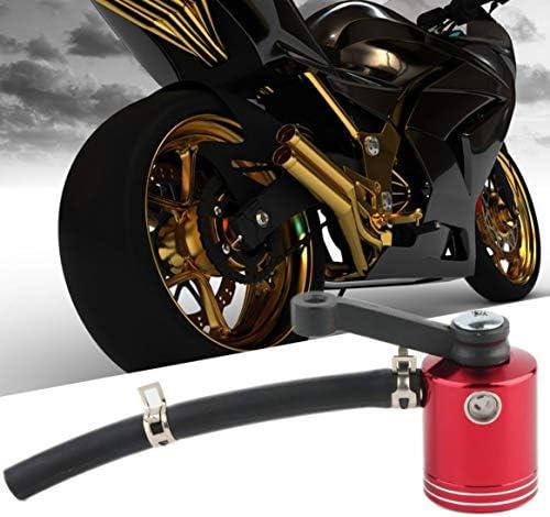 耐久性のあるオートバイ修正ブレーキリザーバー流体シリンダーアルミニウムタンクオイル缶カップロングタイムサービス簡単にインストール-赤