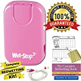 Wet-Stop3 Bedwetting (Enuresis) Alarm System (Pink) with Sound and Vibration