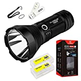 Klarus G35 2000 Lumens CREE XHP35 HI D4 LED 1000 Meters Tactical Flashlight Use 3x 18650 Batteries With SKYBEN USB Light and Battery Case
